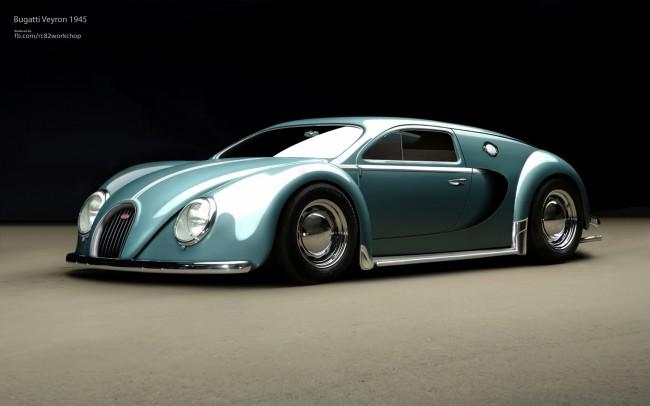 Bugatti Veyron 1945 by rc82 workchop 650x406 Bugatti Veyron 1945 by RC82 Workchop