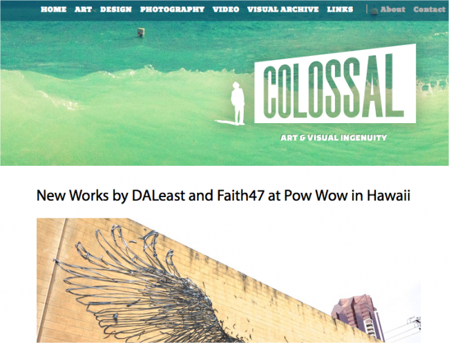 Colossal 650x496 Art & Design Blogs to Follow in 2013