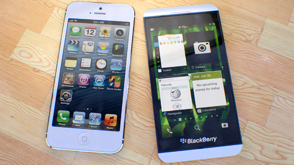 Comparison between BlackBerry Z10 and Apples Iphone  Comparison Between BlackBerry Z10 And Apple's Iphone