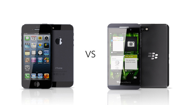 Comparison between BlackBerry Z10 and Apples Iphone 3 Comparison Between BlackBerry Z10 And Apple's Iphone