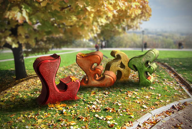 Create an Autumn Themed 3D Text Effect With Photoshop 15 Impressive Photoshop Text Effect Tutorials