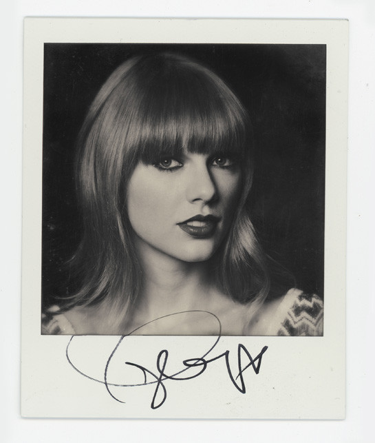 EMA Polaroids Taylor Swift Celebrity Polaroid Portraits at MTV EMA 2012