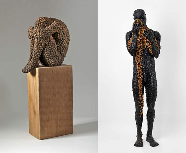 Figurative Sculptures 4 Anna Gillespie Fuses Nature and Art in her Figurative Sculptures