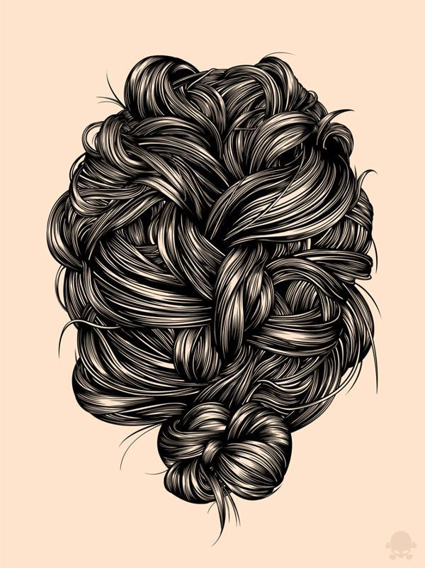 Gerrel Saunders  1600 801 Hair Illustrations by Gerrel Saunders