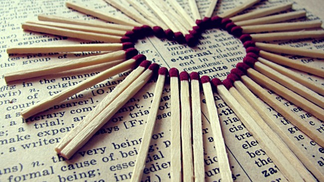 Heart of Matches 650x365 15 Beautiful Valentine Day Wallpapers