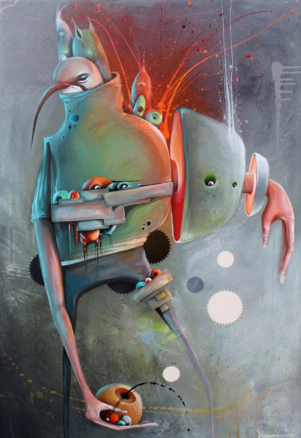 Philip Bosmans 3 Paintings by Philip Bosmans