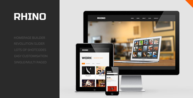 Rhino Single Page Responsive Wordpress Theme 15 Fresh One Page Portfolio WordPress Themes
