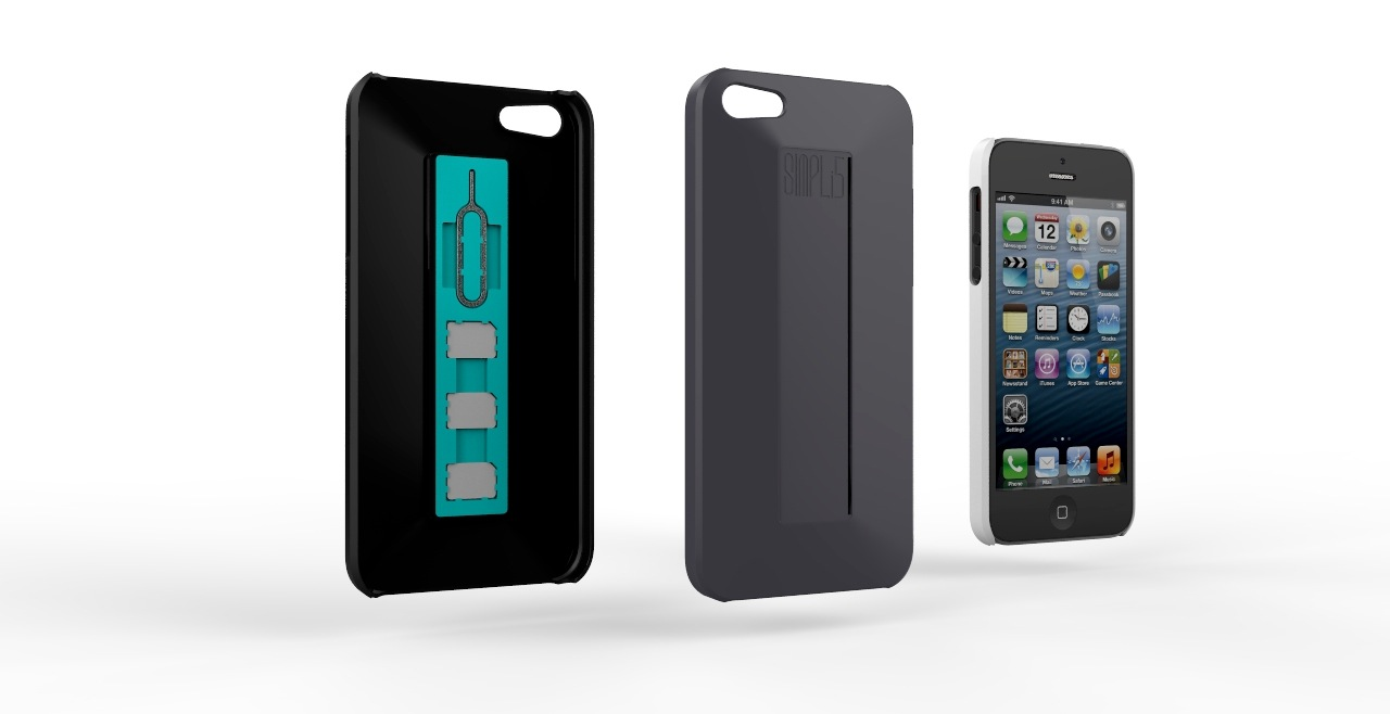SIMPLi5 render 3 colors3 SIMPLcase™ ~ Minimalist iPhone Case for Travelers   now on Kickstarter