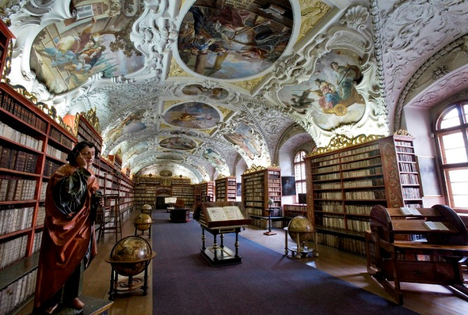 Strahov Theological Hall Prague3 8 UNIQUE DESIGN LIBRARIES AROUND THE WORLD