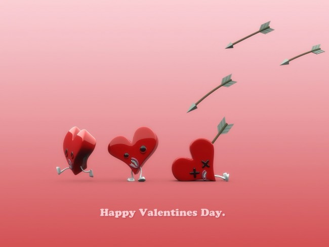 Valentine Day Wallpapers 3 650x487 40 Loving And Heart Shaped Wallpapers On Valentine Day 2013