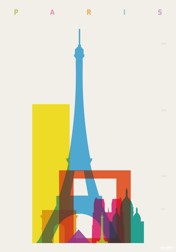 YoniAlter44 Shapes of Cities, illustrations by Yoni Alter.