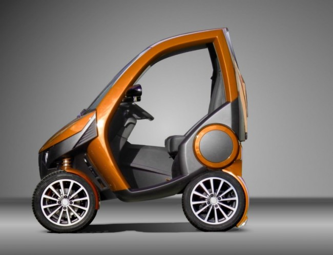 city car 1 650x499 Casple Podadera Folding Electric City Car