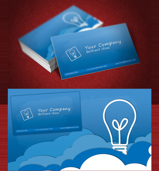 clouds business card Wow Your Clients with Trendy Business Card Templates