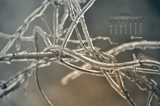 cromoart desktop calendar 2013 march 650x433 Desktop Calendar   March 2013