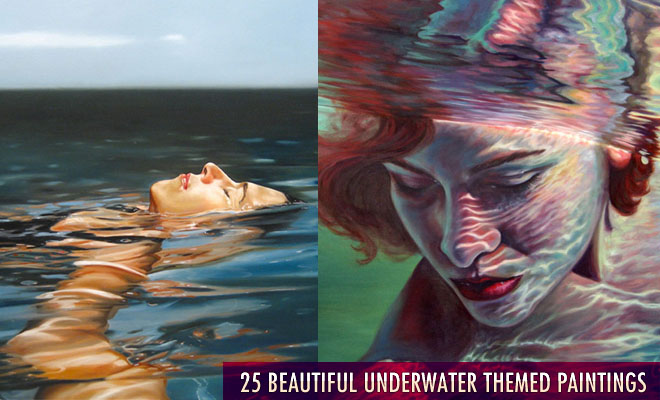 e135 25 Beautiful Underwater themed Oil Paintings for your inspiration