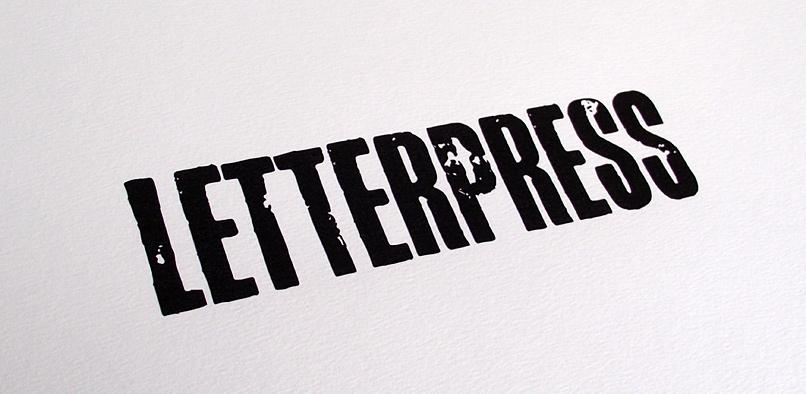 hft149 letterpress pr6 Letterpress Font