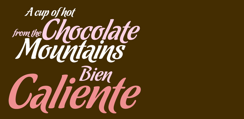 hft81 chocolate pr3 Chocolate Font