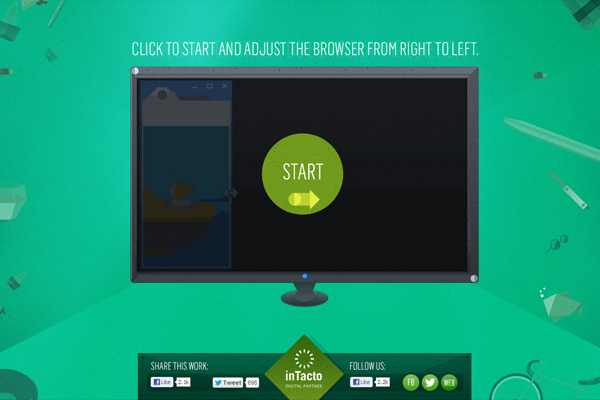 intacto1 35 Interactive Parallax Scrolling Website Designs