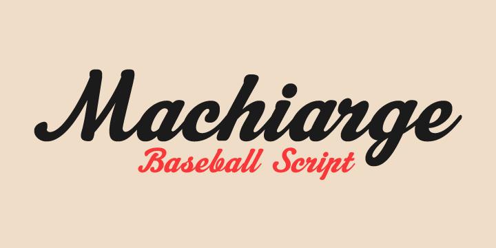 m01 Machiarge Font