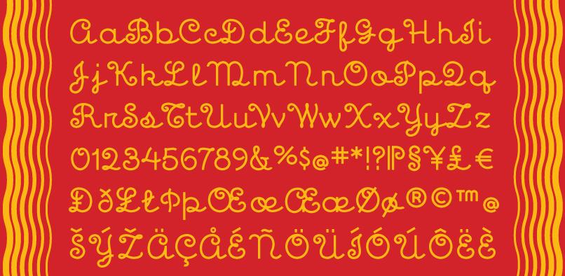 mim02 Mimosa Font