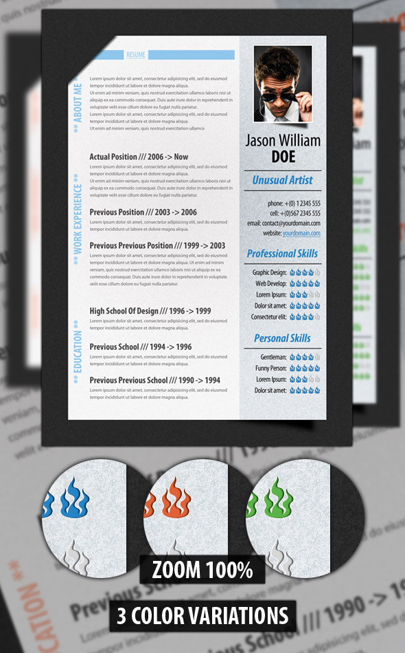 modern resume template1 A List of Popular Modern Resume Templates