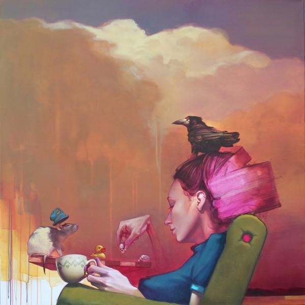 sainer 5 Paintings by Sainer