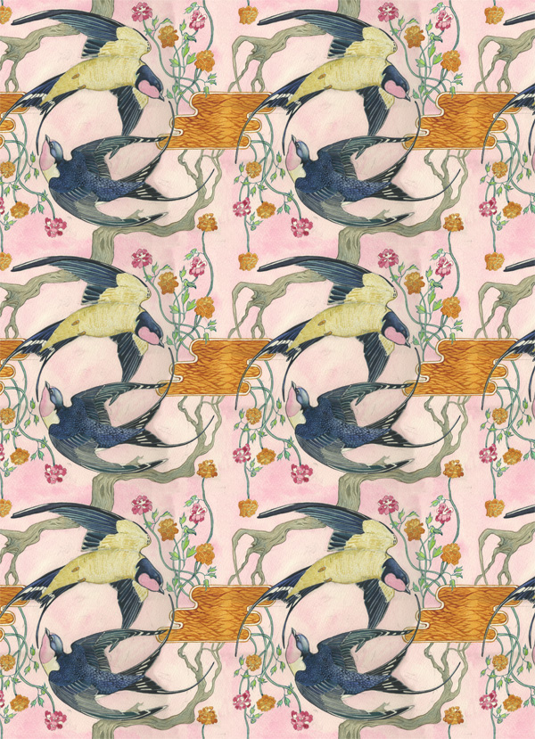 swallos repeating pattern Swallow Repeating Pattern by Daniel Mackie