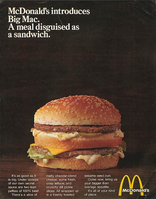 tumblr mh8qmz0JQ21qiqf01o1 500 The First Mcdonalds Big Mac Ad Ever