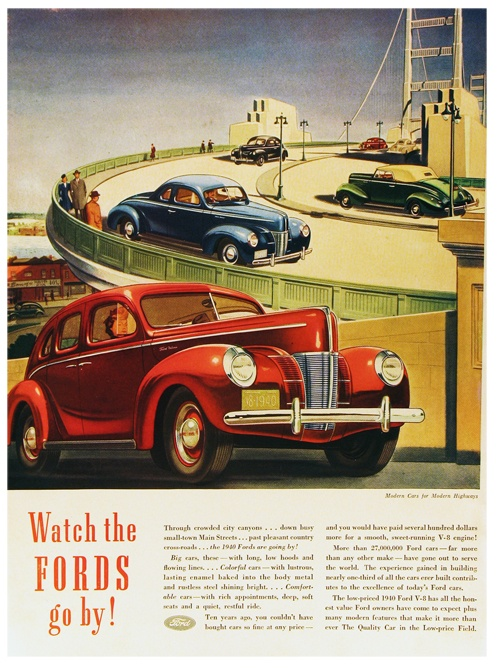 1940 Ford Vintage Car Ads Posters