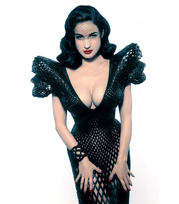 3D printed dress Dita Von Teese Looking Sexy in Stylish 3D Printed Dress