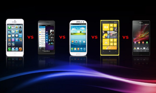 Comparisonss 650x390 Comparison Between IPhone 5, BlackBerry Z10, Samsung Galaxy S3, Nokia Lumia 920, Sony Xperia Z