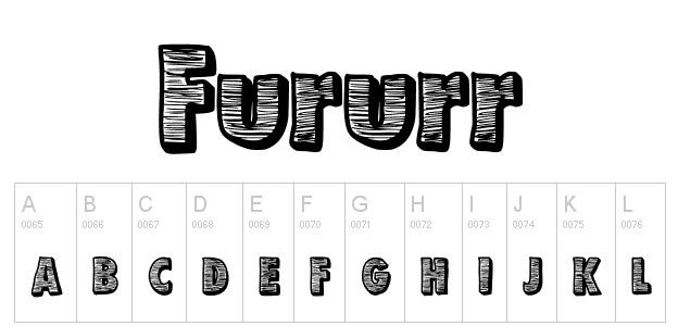 Futurr Free bold fonts
