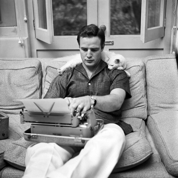 Marlon Brando with His Cat at Home circa 1950s 1 Marlon Brando with His Cat at Home, circa 1950s