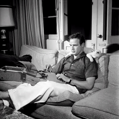 Marlon Brando with His Cat at Home circa 1950s 3 Marlon Brando with His Cat at Home, circa 1950s