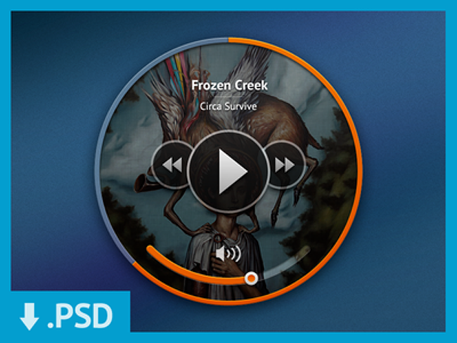 Mini Music Player 15 Absolutely Freebies PSD Files of 2013 for Designers