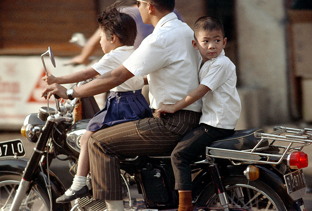 Motobikes On The Street of Chiang Mai Province Thailand in 1972 4 Motobikes On The Street of Chiang Mai Province, Thailand in 1972