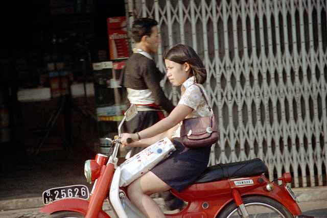 Motobikes On The Street of Chiang Mai Province Thailand in 1972 6 Motobikes On The Street of Chiang Mai Province, Thailand in 1972