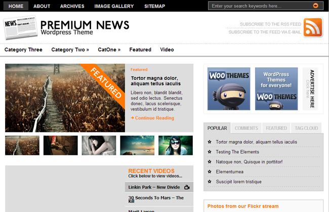 Premium News 15 Fresh and Free WordPress Themes