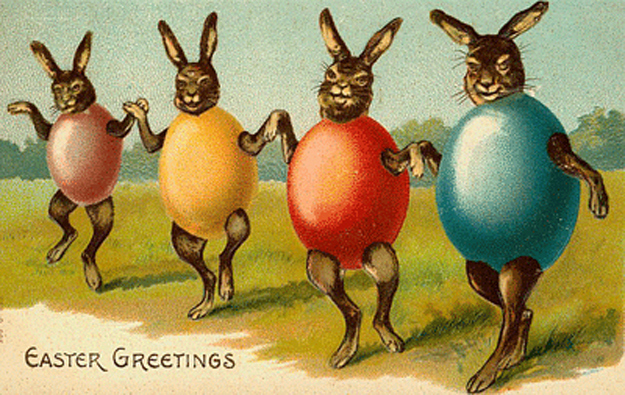 Vintage Easter Cards 1 Creepy & Funny Vintage Easter Cards