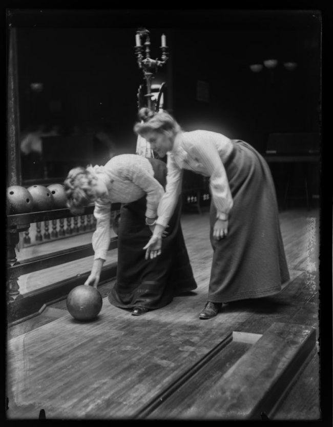 Women Bowling ca. 1900 2 650x833 Women Bowling, ca. 1900