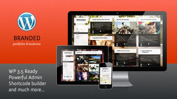 branded theme1 Best Business, Portfolio Responsive WordPress Themes Collection