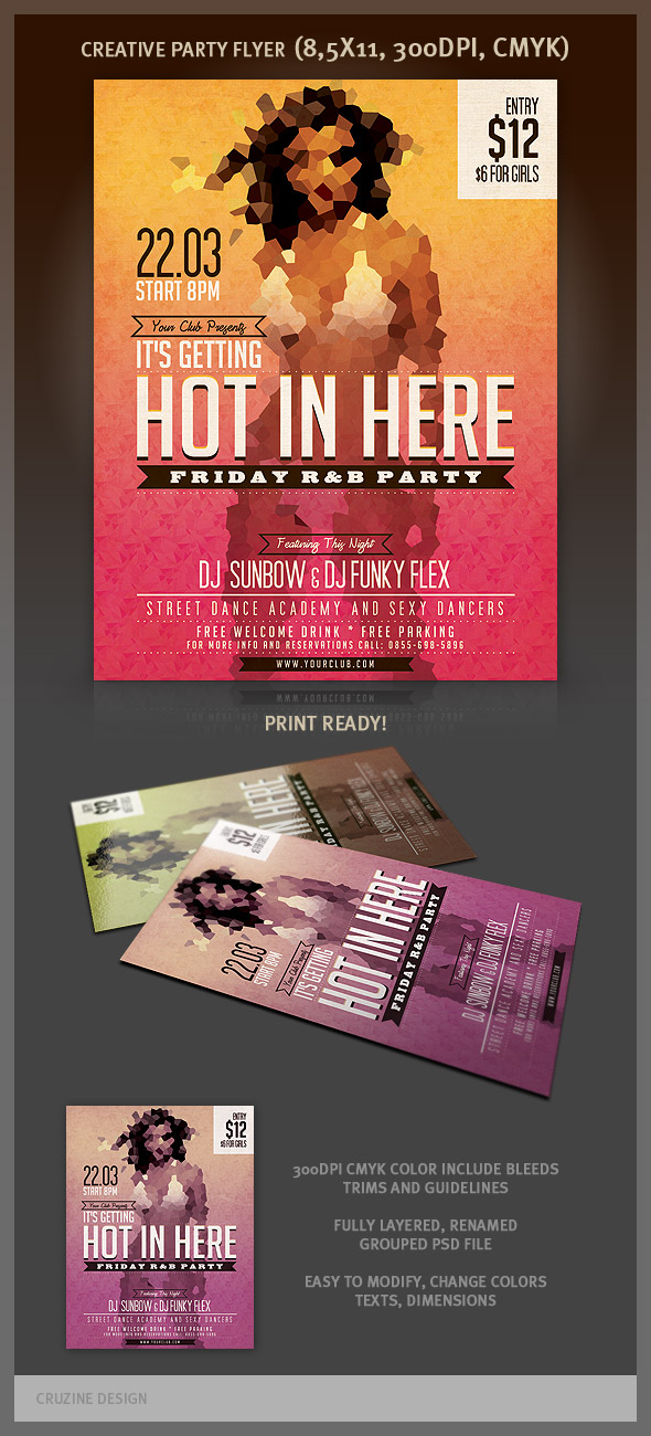 cruzine15b Modern and creative party flyer templates