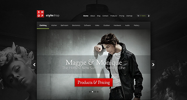dzinewatch style shop wordpress theme 30 New WordPress Themes Released in February 2013