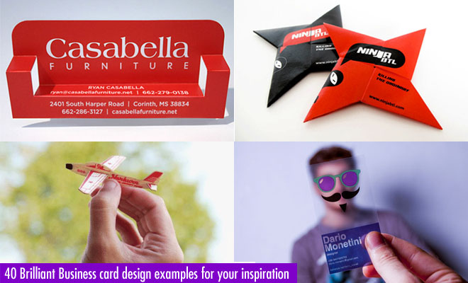 40 Brilliant Business card design examples for your inspiration ...