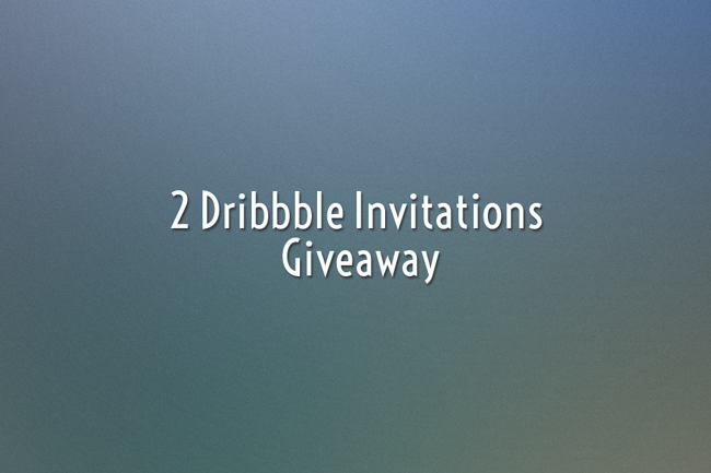 giveaway dribble 2 Dribbble invitations giveaway