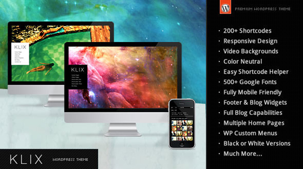 klix1 Best Business, Portfolio Responsive WordPress Themes Collection