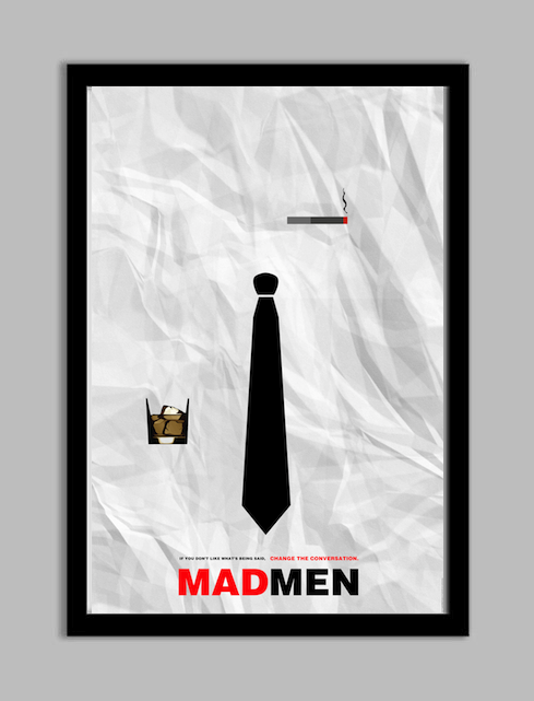madmenetsyimage2 Mad Men Minimalist Poster