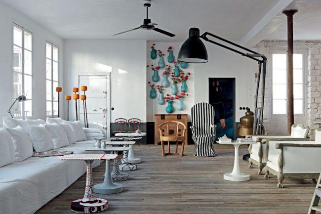 paola navone paris apartment 1 650x433 Paola Navones Amazing Parisian Loft