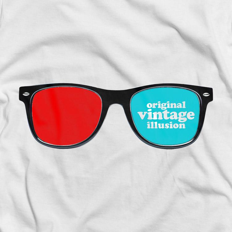 vintage icons 02 3D glasses 3D glasses t shirt. Vintage icons collection