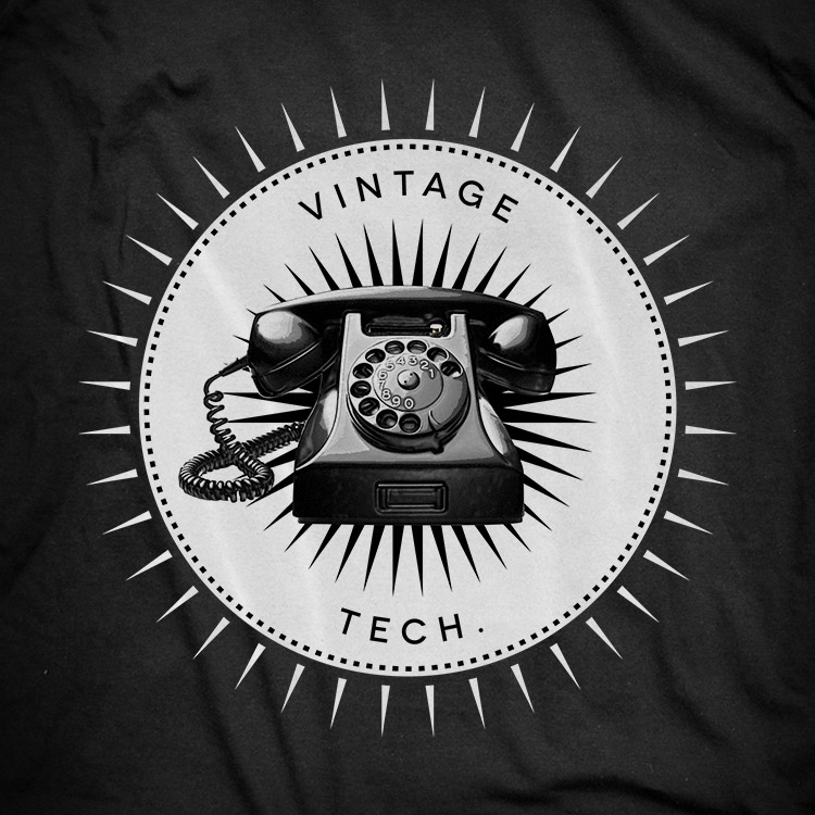 vintage icons 04 phone Phone t shirt. Vintage icons collection